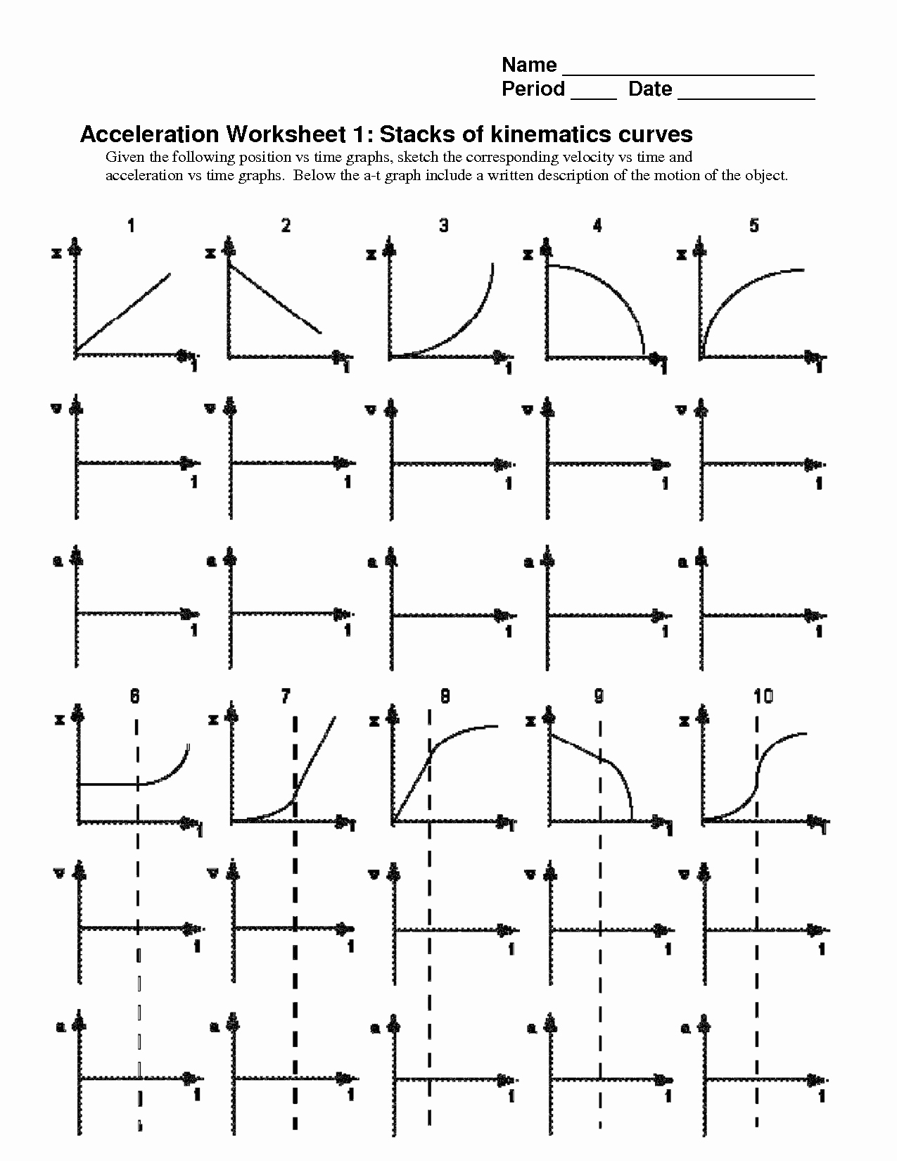 50 Motion Graphs Worksheet Answer Key