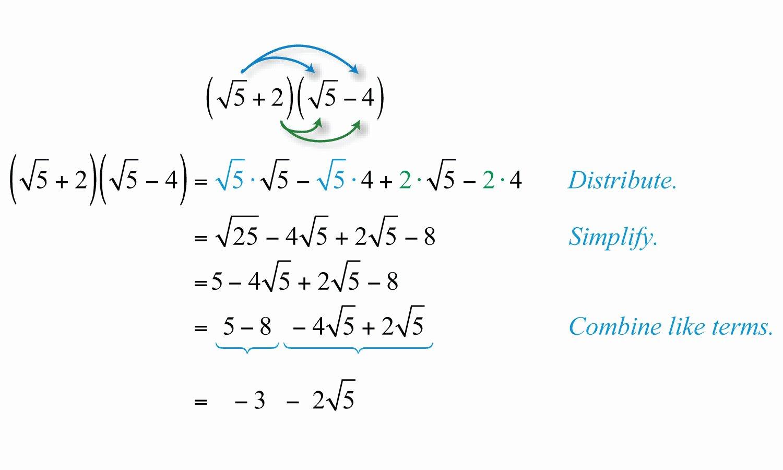 50 Multiply Radical Expressions Worksheet