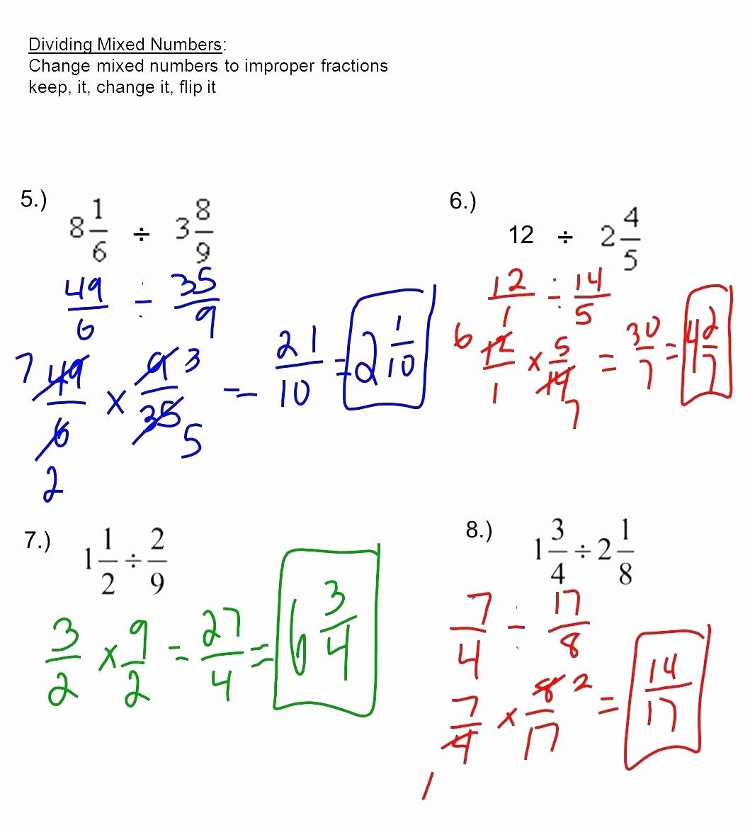 49 Multiplying Mixed Fractions Worksheet