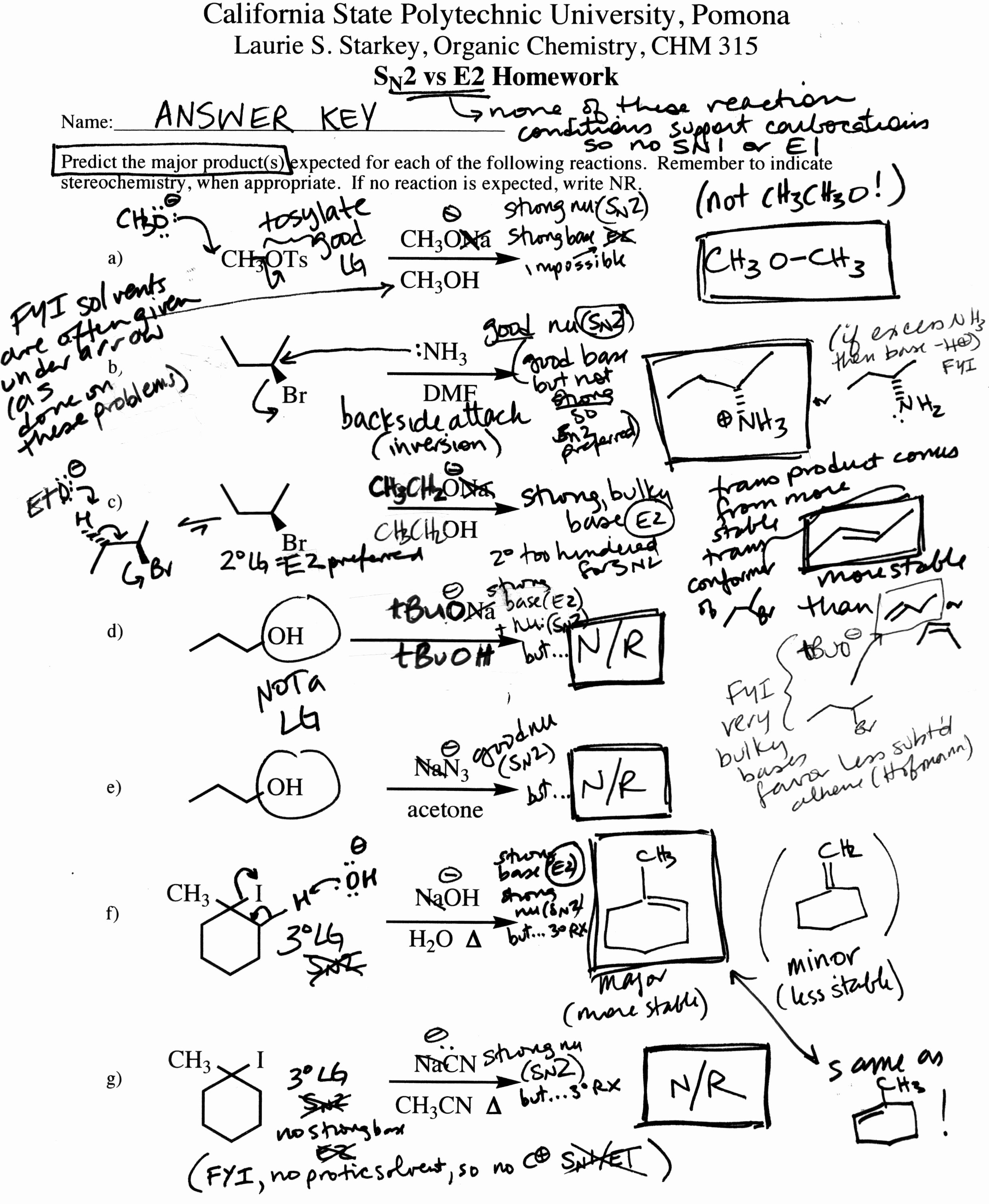 50 Organic Chemistry Worksheet With Answers