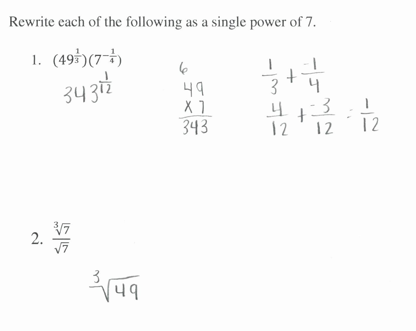50 Radical And Rational Exponents Worksheet