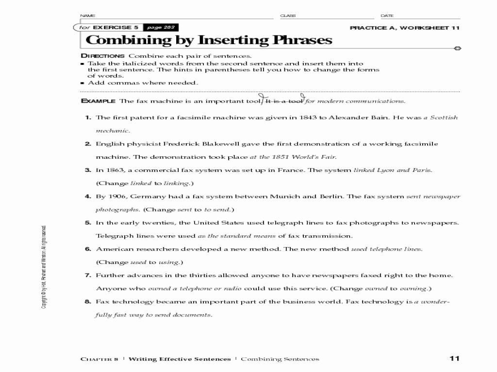 50 Run On Sentences Worksheet
