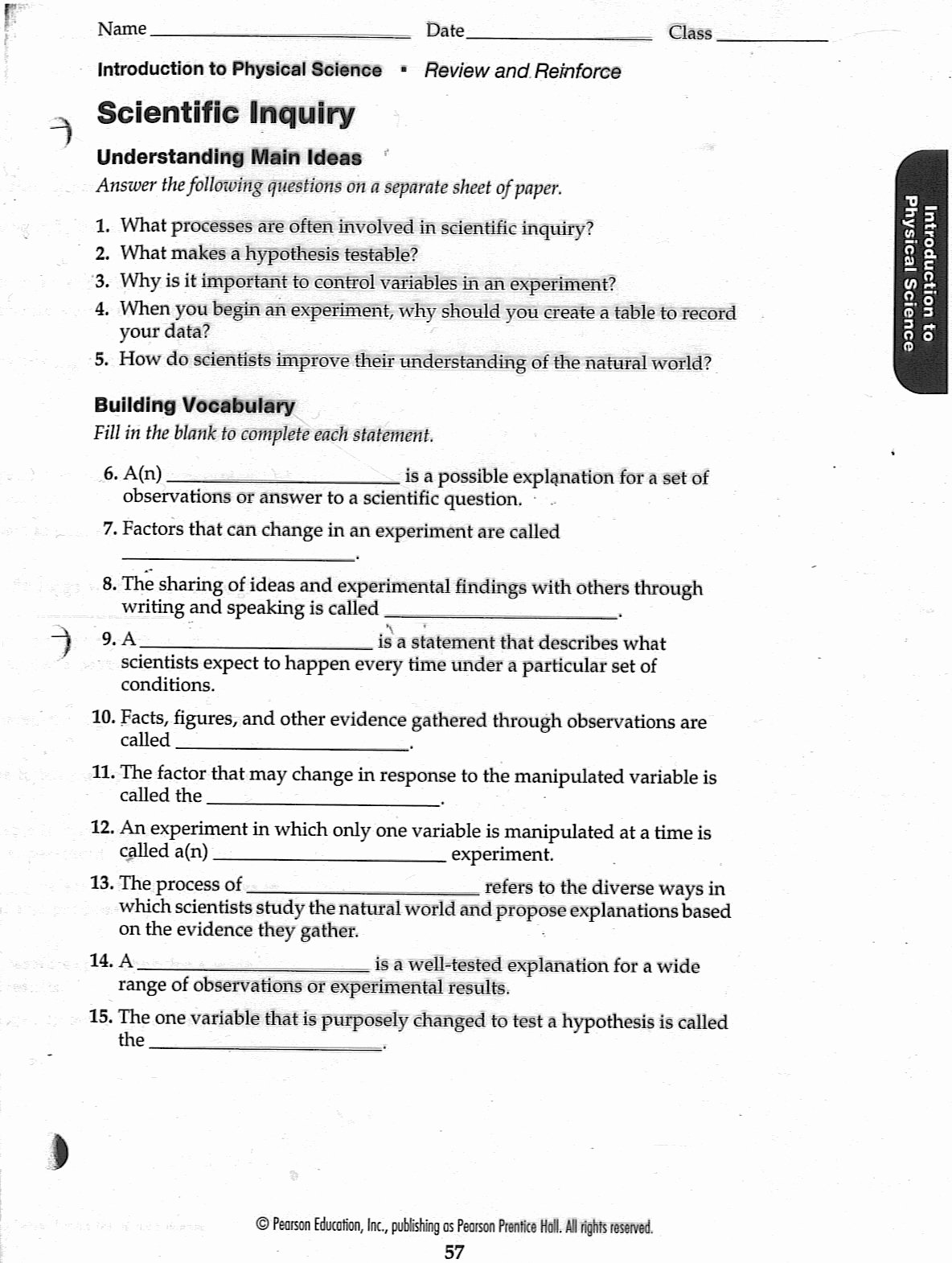 50 Scientific Method Worksheet High School
