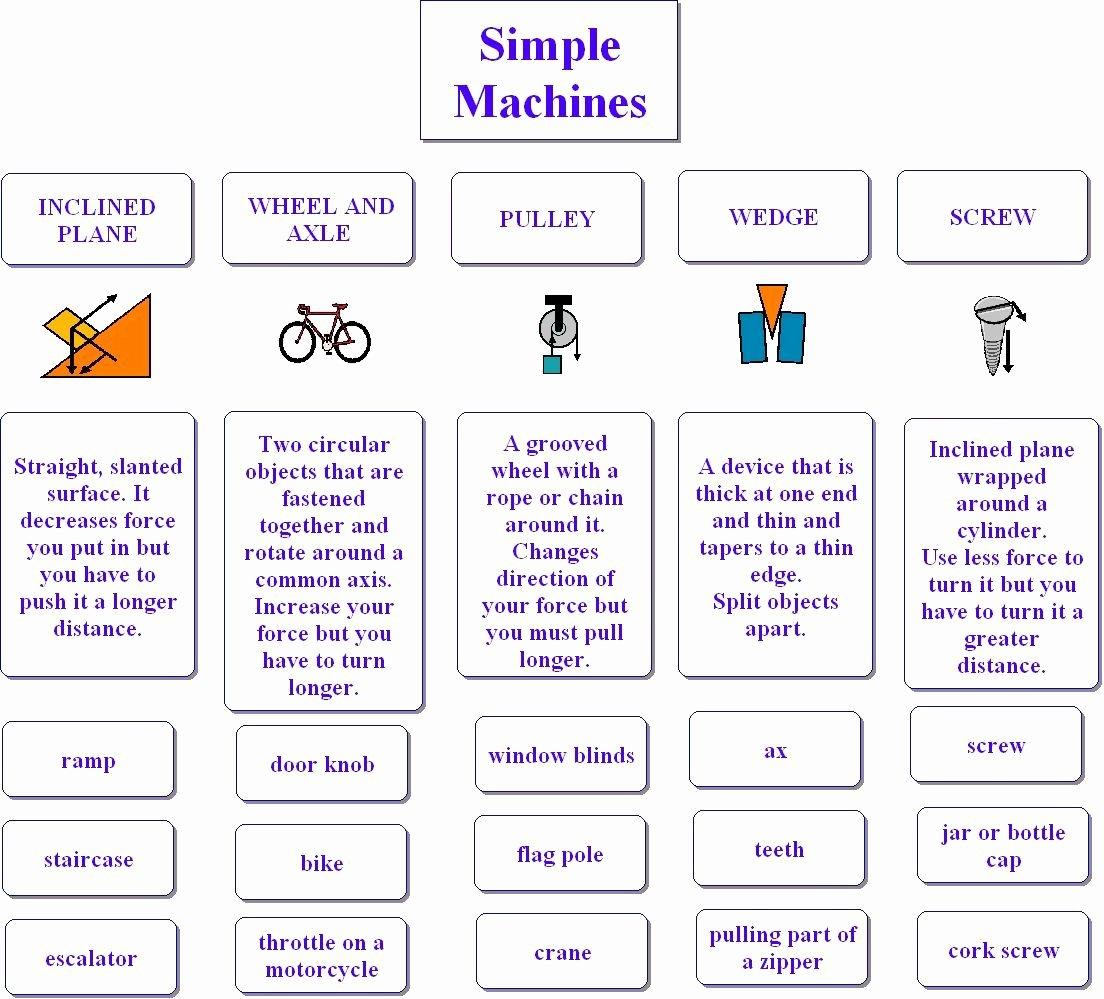 50 Simple Machines Worksheet Middle School