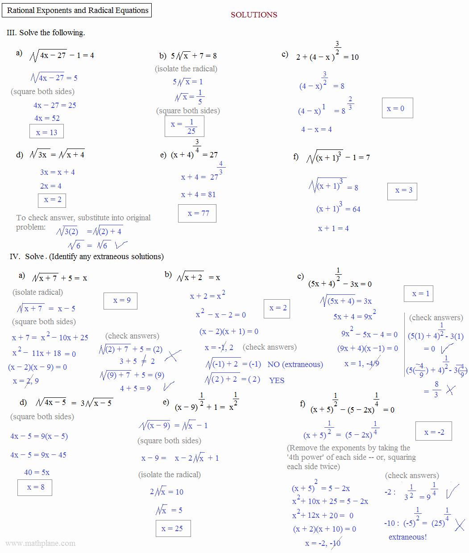 50 Simplifying Rational Exponents Worksheet