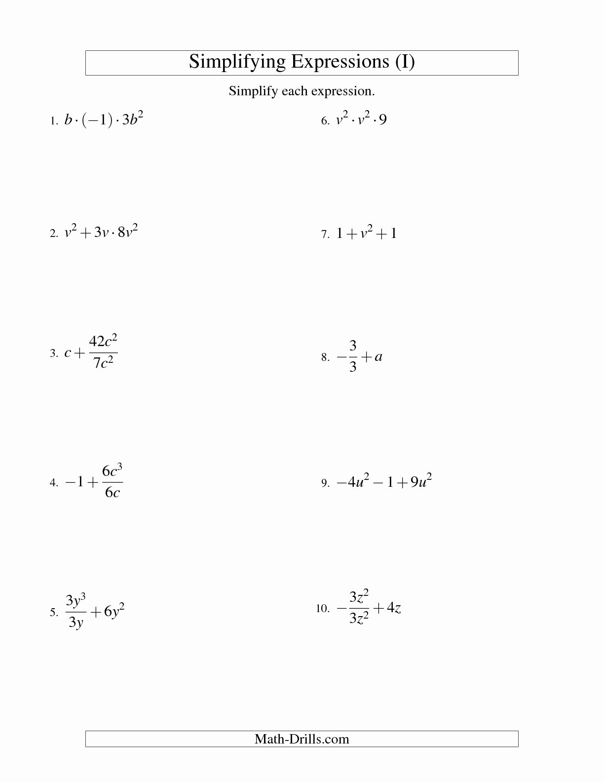 Simplifying Rational Expressions Worksheet Awesome