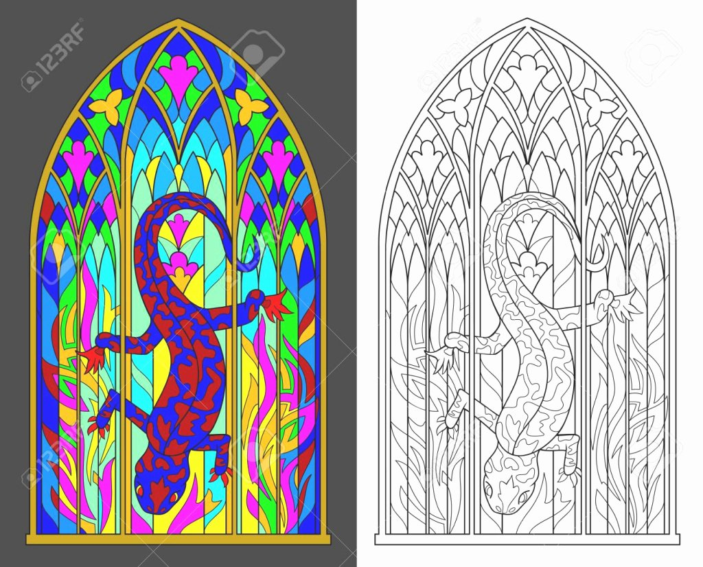 50 Stained Glass Windows Worksheet