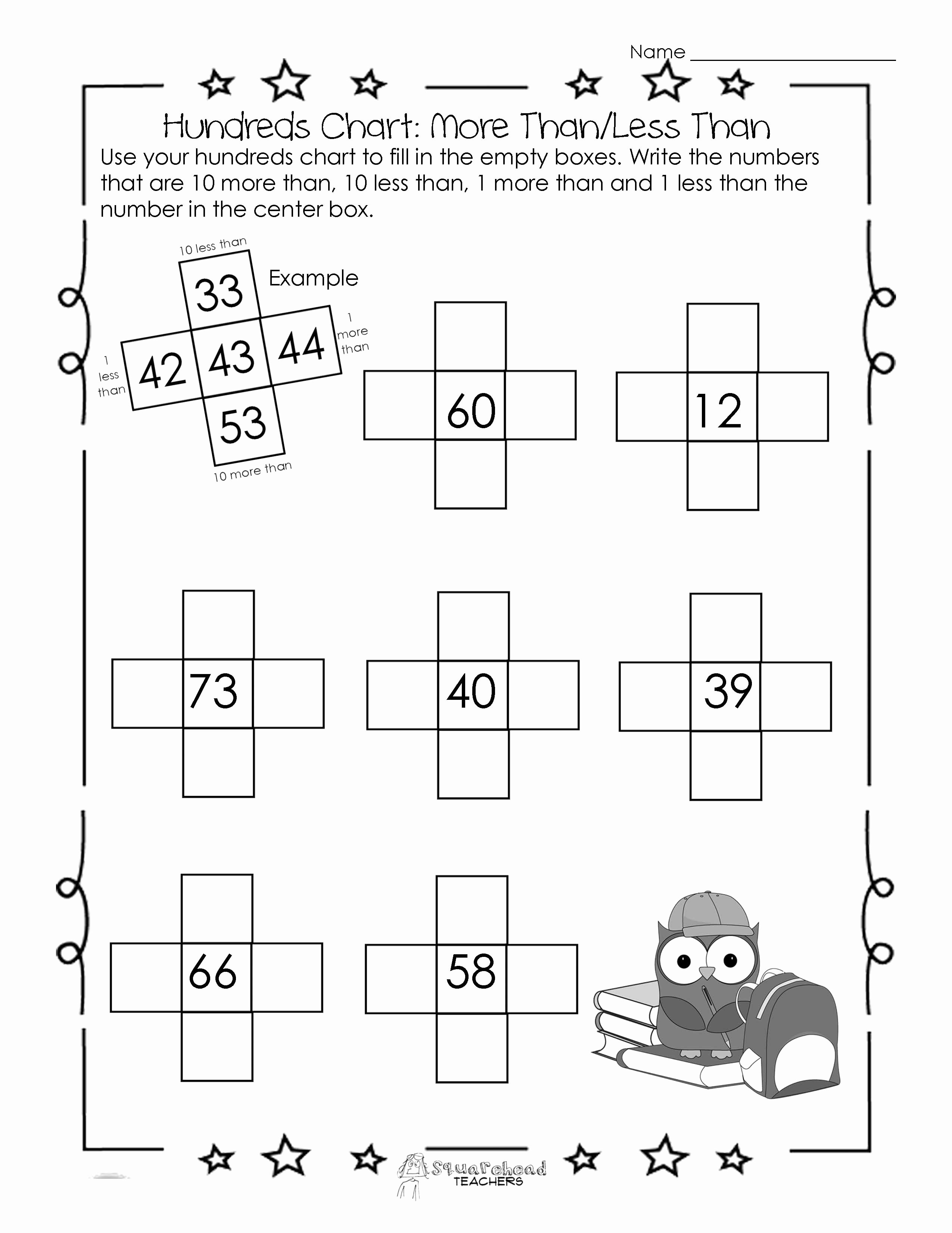 50 Ten More Ten Less Worksheet