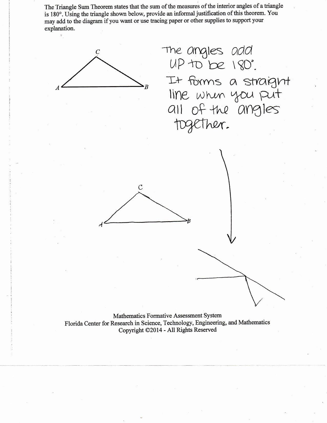 50 Triangle Angle Sum Worksheet