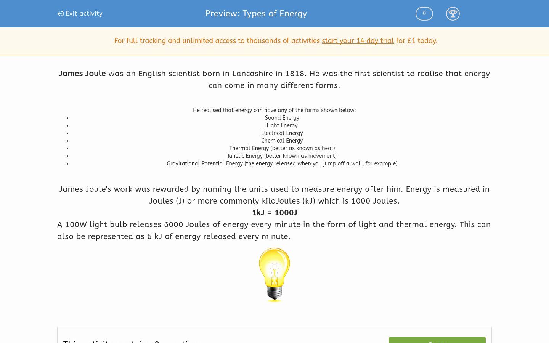 50 Types Of Energy Worksheet