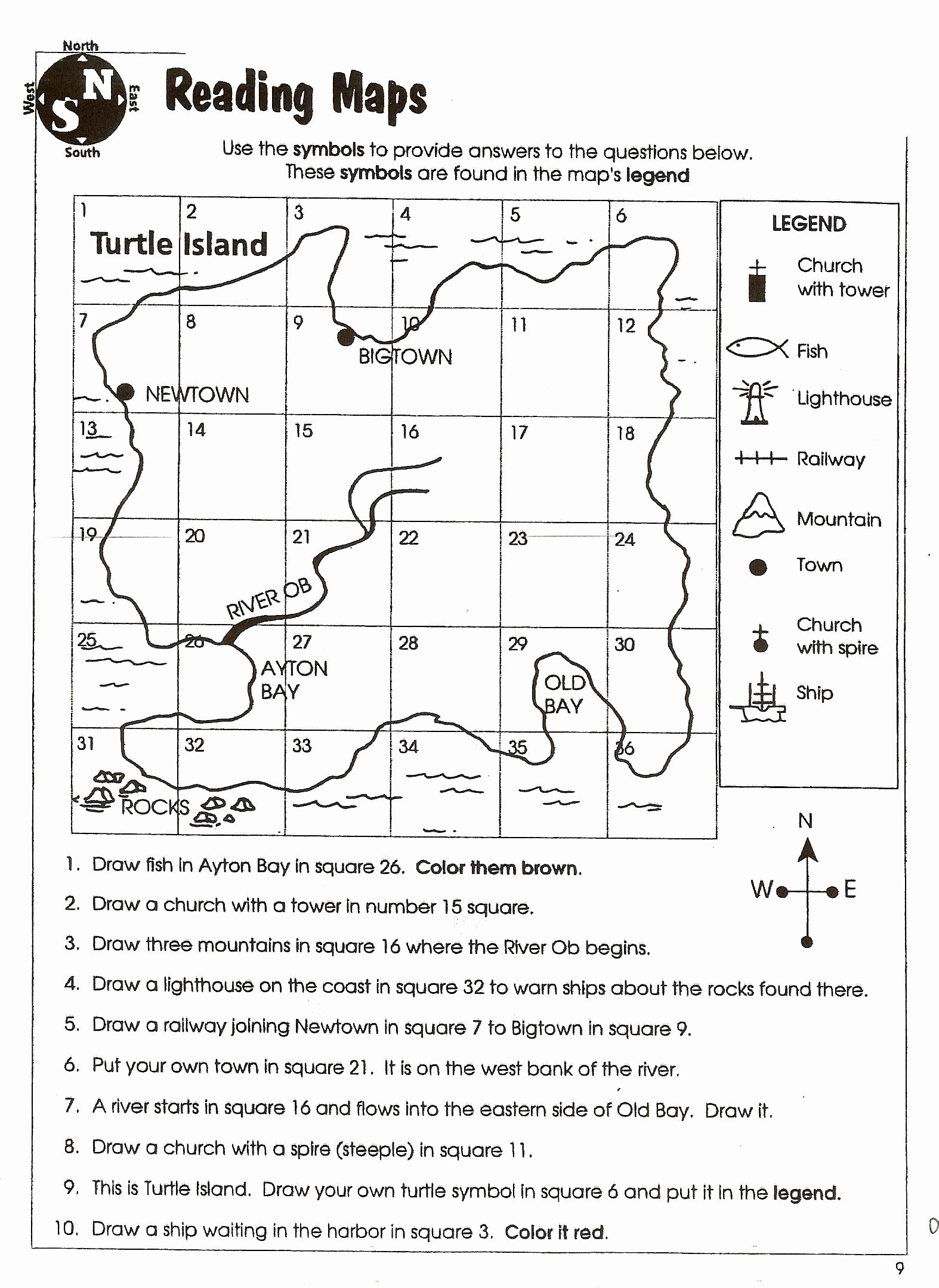 50 Using A Map Scale Worksheet