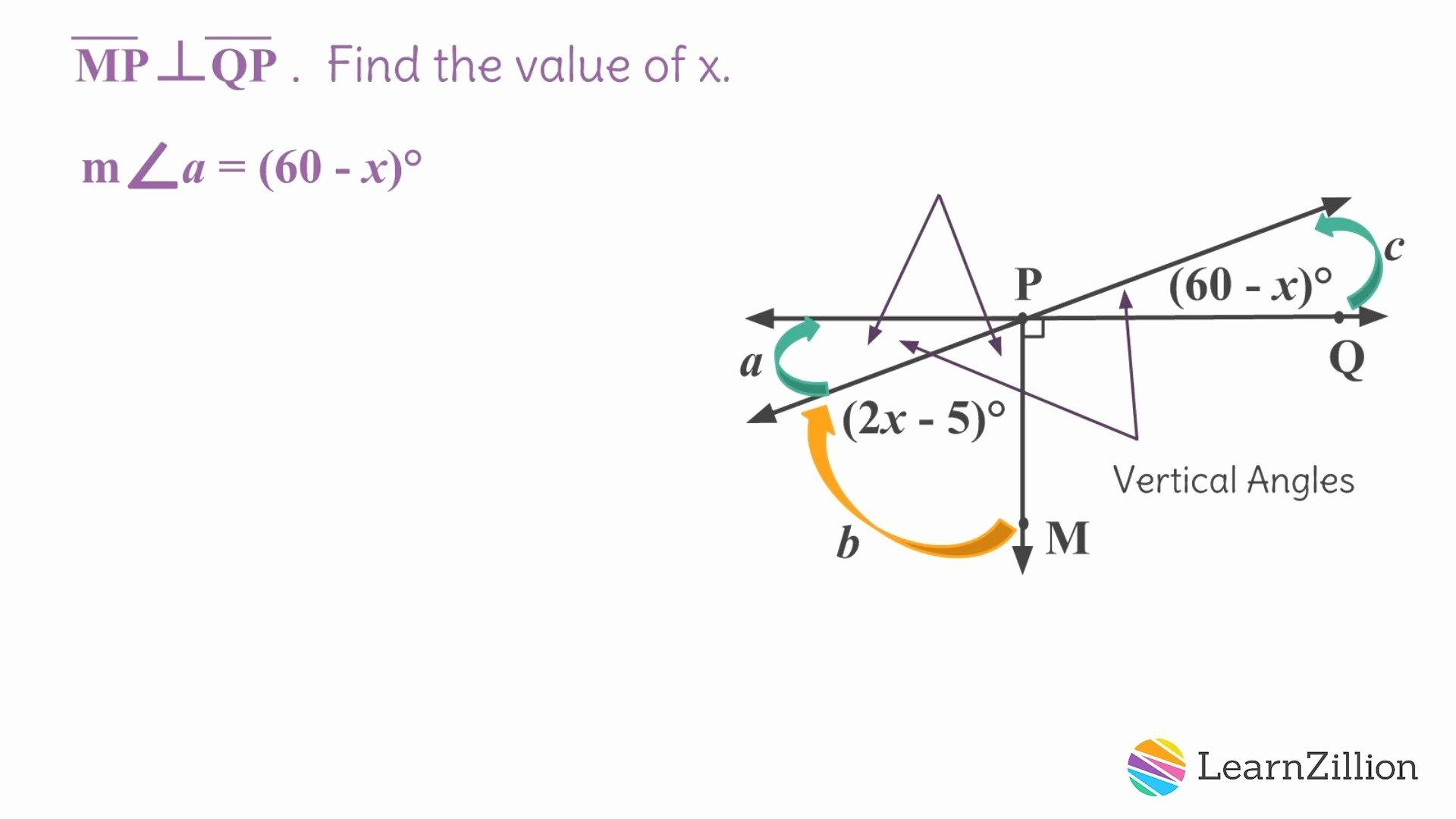 50 Vertical Angles Worksheet