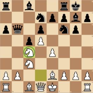 Pawn return Nc4