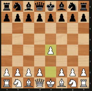 chess board first move