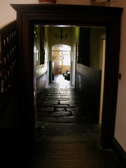 Corridor leading past Head's office towards classrooms