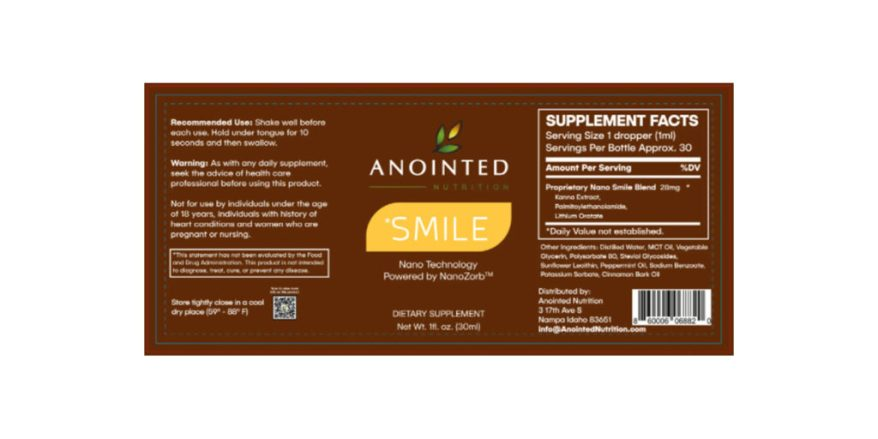 Anointed Nutrition Smile Dosage