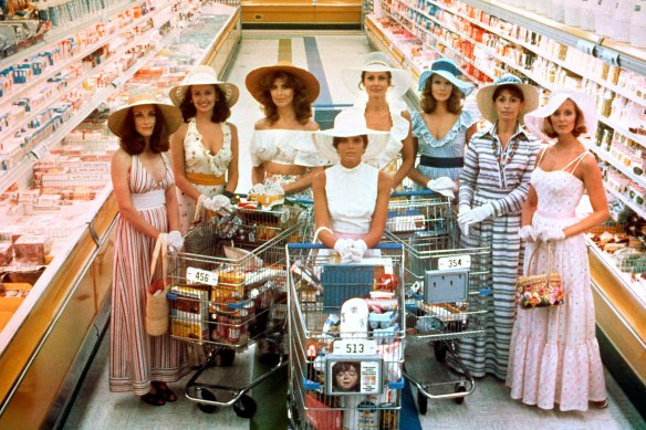 THE STEPFORD WIVES, Toni Reid, Carole Mallory, Tina Louise, Katherine Ross, Paula Prentiss, Barbara