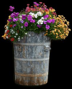 Wooden flower planter