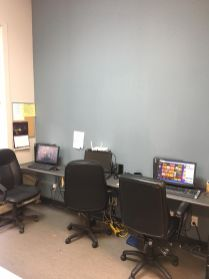 Computers with internet access in the Common room.