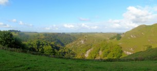 Looking up Dovedale and Milldale