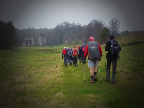 Approaching Roche Abbey ruins