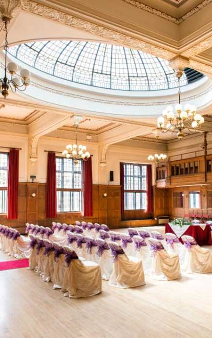 Winding Wheel Ballroom Wedding Ceremony