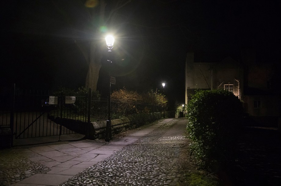 Chester Ghost tour St John's Church leading to the River Dee