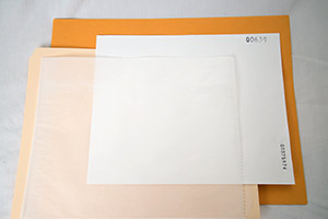 8x10 inch Filter Packaging: Filter in Glassine in Folder in Envelope