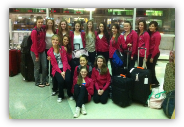 Dancers at Philadelphia International Airport before departing to Dance Excellence 2011