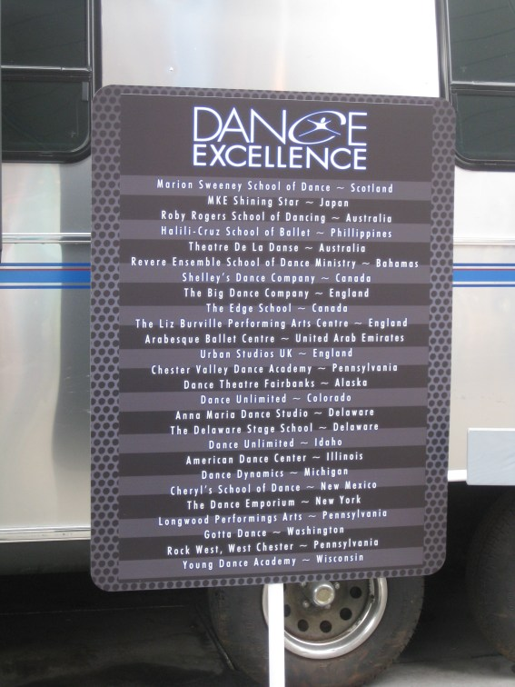 Studios from all over the world came to participate in Dance Excellence