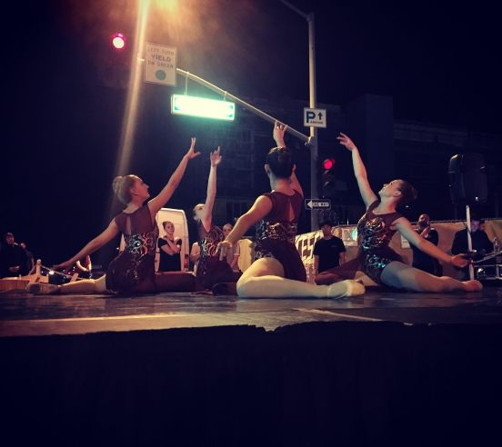 Dancers performing at the Outdoor Stage at Palm Springs Dance Festival
