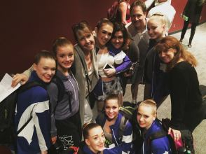 Dancers with parents and studio director Cathy Moran at Palm Springs Dance Festival