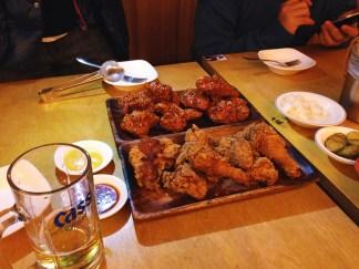 Korean chicken and beer