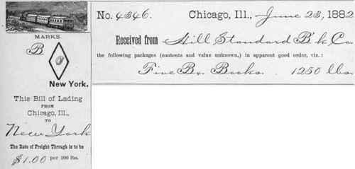 Benton Express Bill Lading