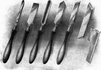 Fig. 99. - Turning Tools for Wood Lathes .