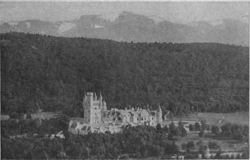 Balmoral Castle, the romantically situated Highland home so beloved by our Royal Family. Its position by the River Dee, facing the majestic range of Lochnagar, makes it one of the most beautiful of Royal residences