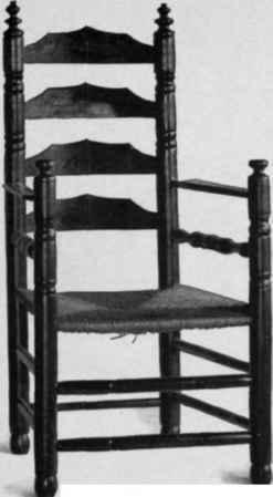 Slat Back Turned Chairs