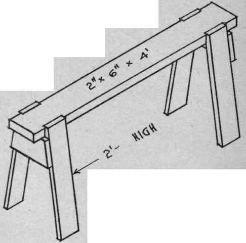 carpenter's saw bench trestle