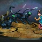 Animal tamer and beasts