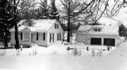Cracker Box Manor was designed as a summer home; in the winter, the lake effect snows didn't make it the most hospitable. There is beauty, however, in this photo from there, taken the winter of 1957-8, the last winter they owned Cracker Box Manor.