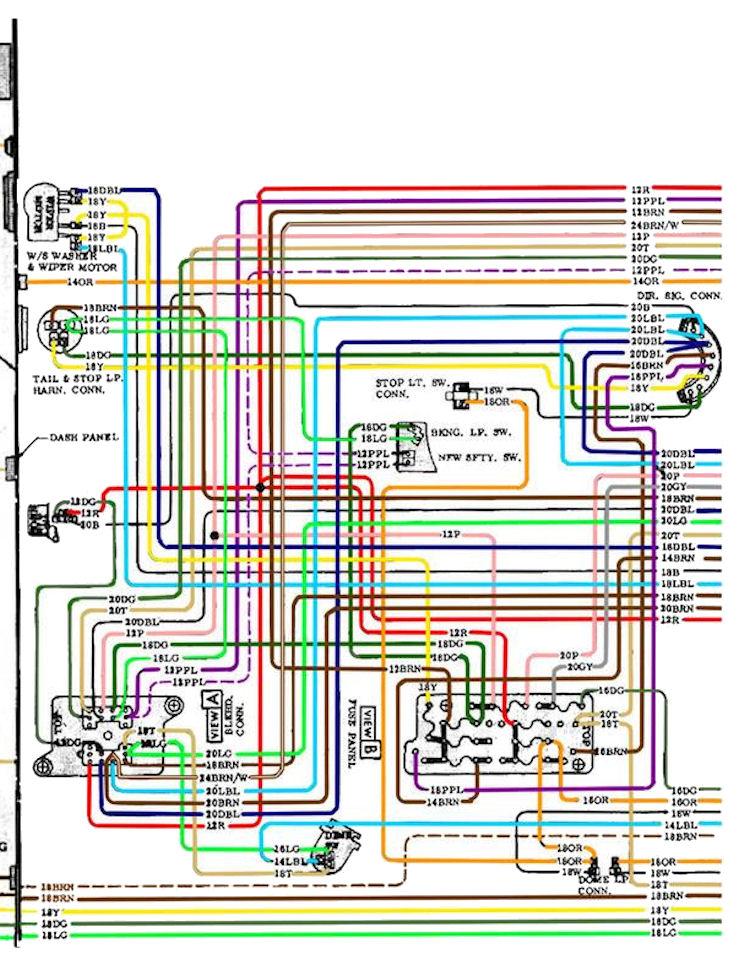 70diagram_color_2?resize\\d665%2C851 72 chevelle cowl induction wiring diagram efcaviation com 1972 chevelle fuse box diagram at mifinder.co