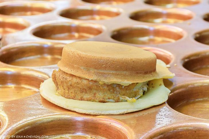 20201019200924 5 - 熱血採訪│這是車輪餅,多達40種口味鹹甜通通有!起司蛋口味就像迷你滿福堡,還有可可布朗尼奶油車輪餅螞蟻控最愛