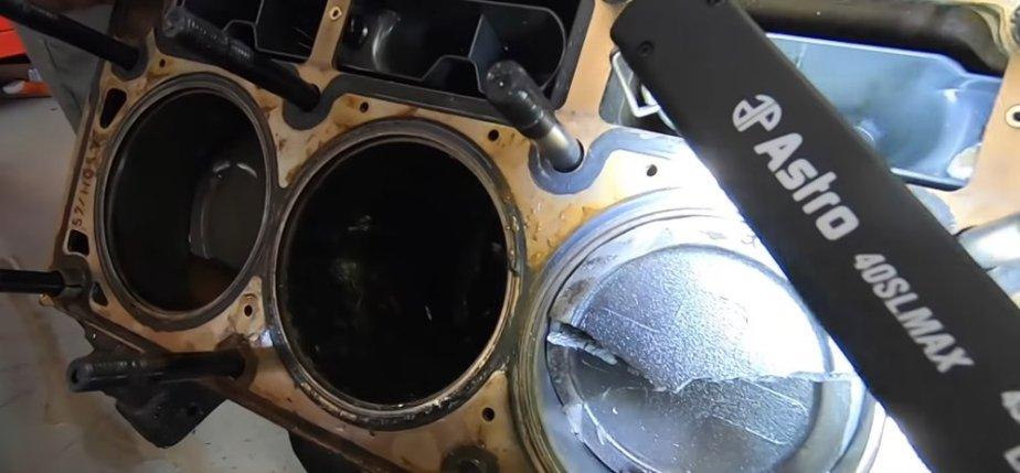 Corvette Engine Carnage Cracked