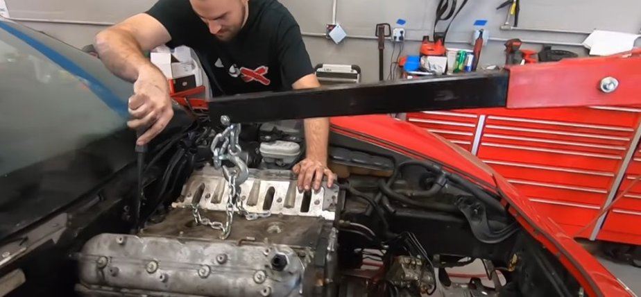 Pulling the Engine from the Auction Corvette