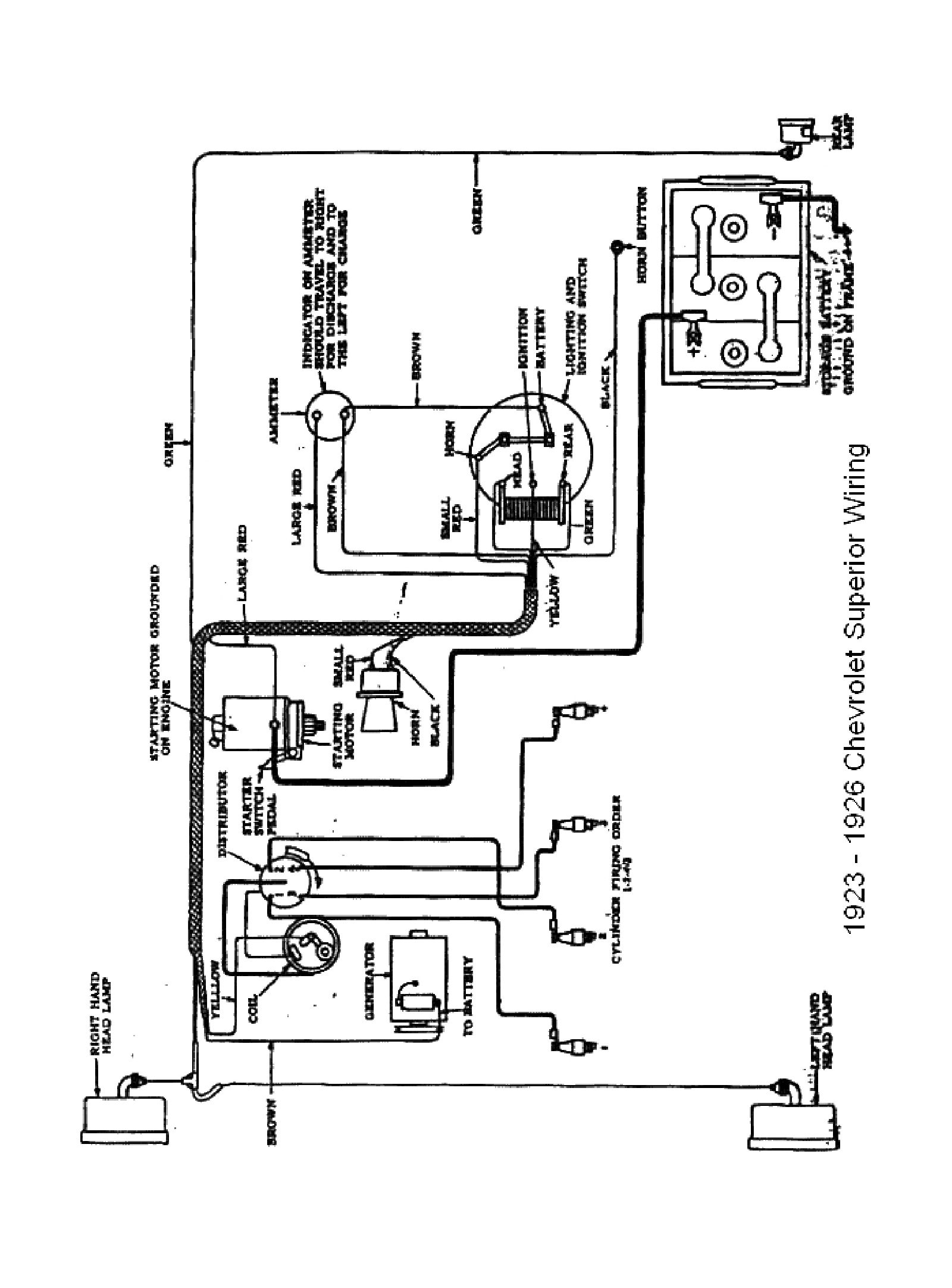 Chevy wiring diagrams 1923 superior model · 1923 superior model 1926 chevrolet wiring diagram