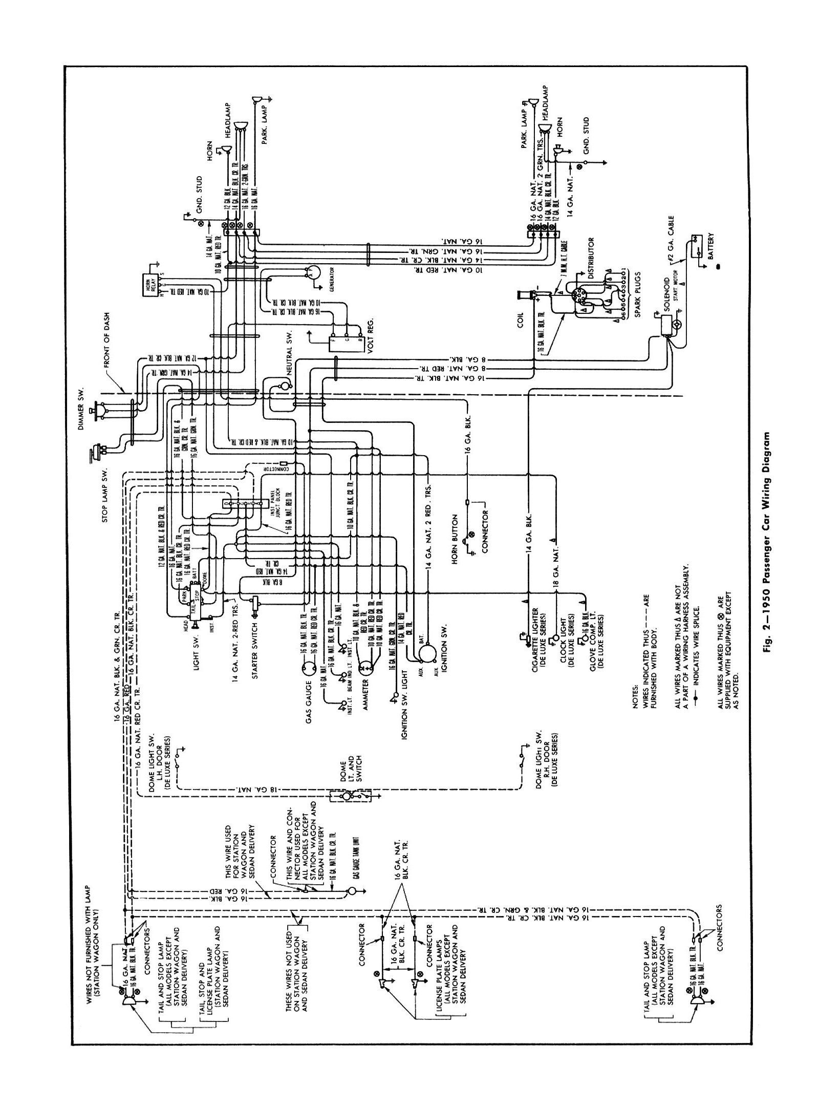 General Wiring Diagram For The Gmc Trucks Series 300 And Up