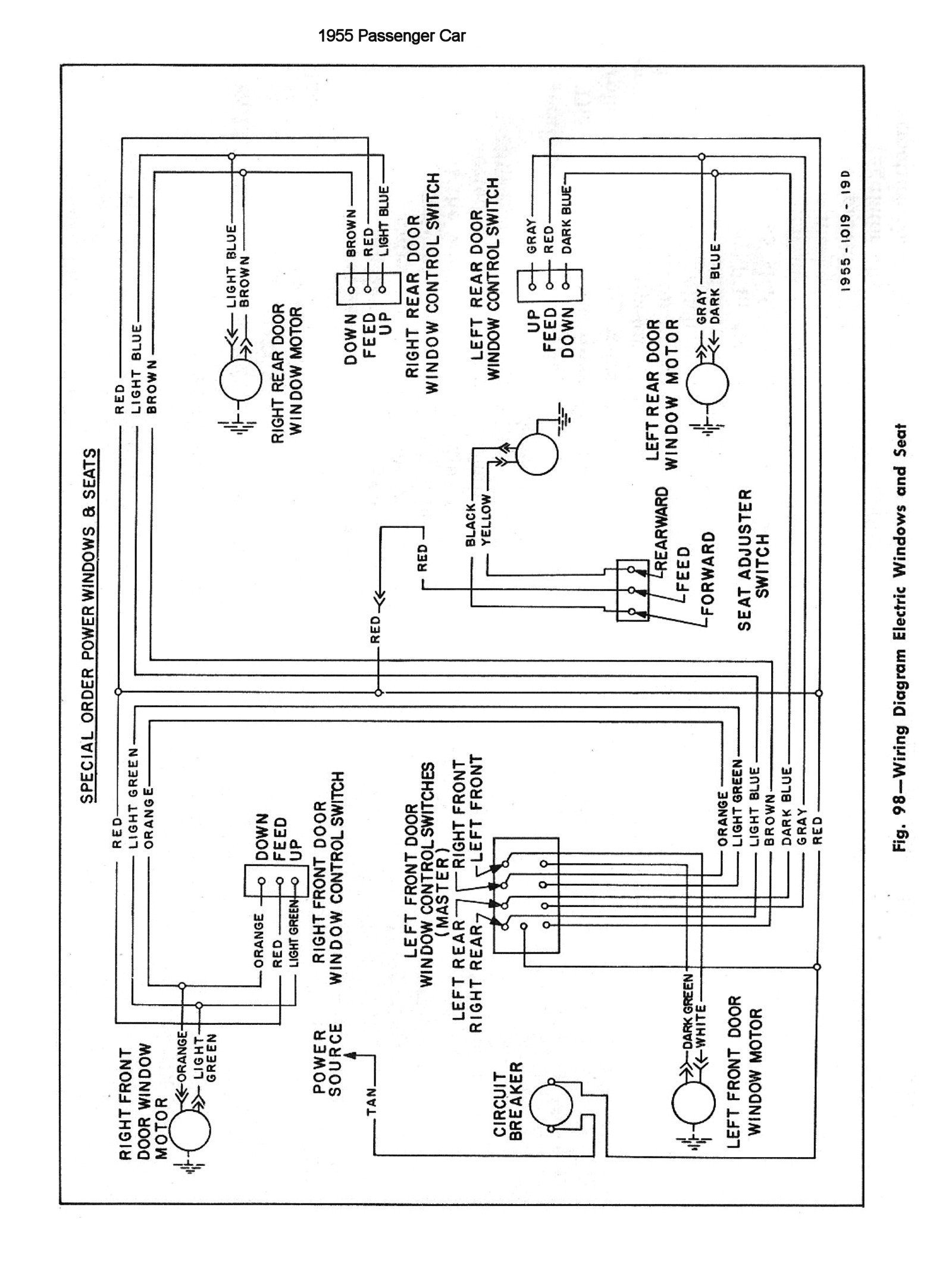 55 Chevy Headlight Switch Diagram