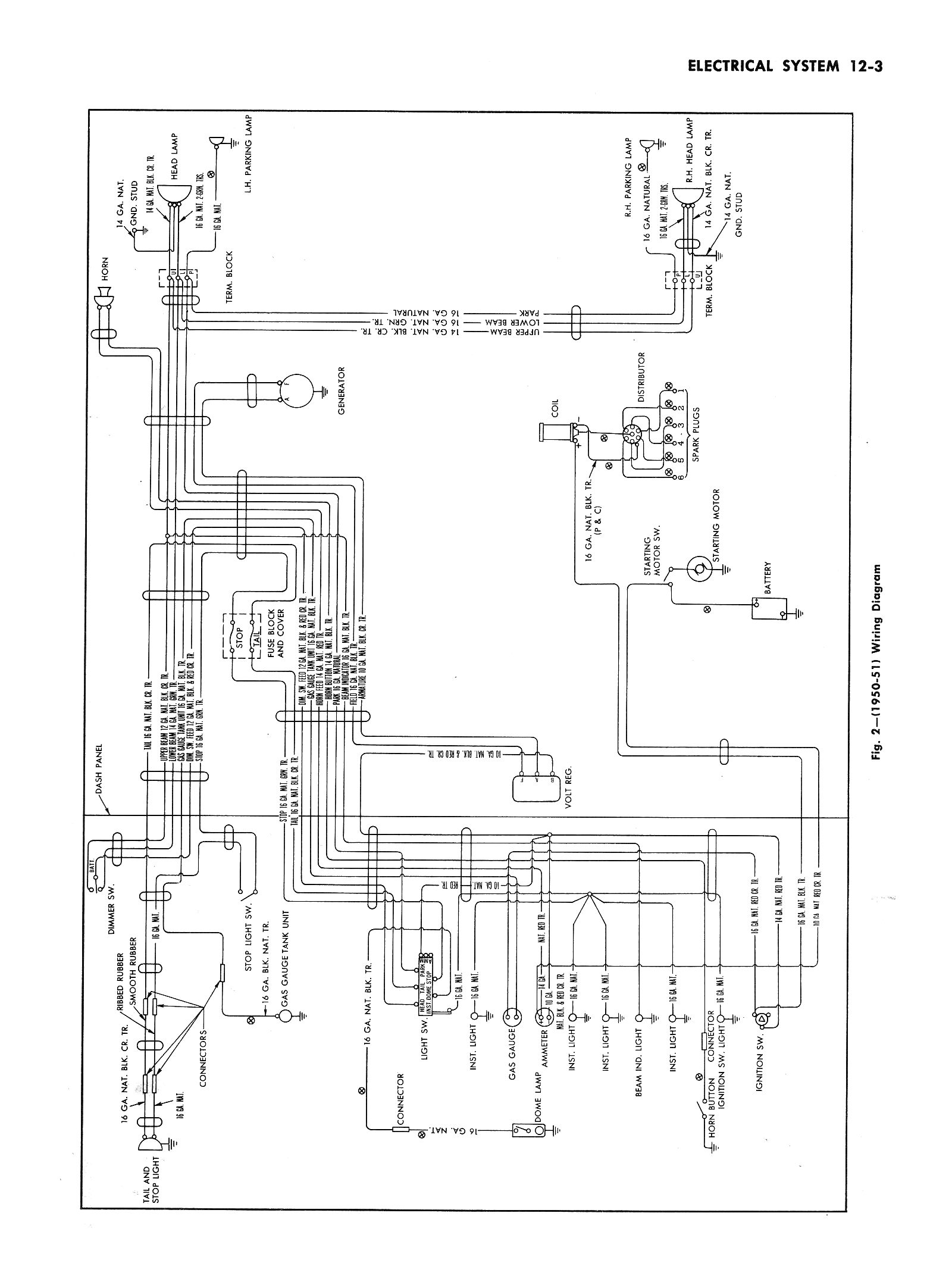Wiring Chart For Typical 50 S Truck