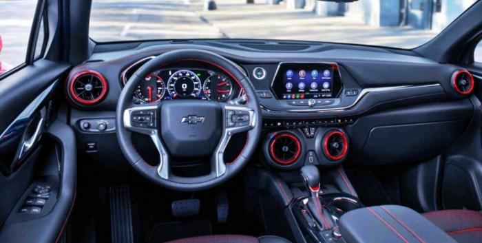 2022 Chevy Blazer RS Interior