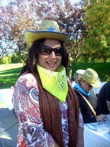 Monica Bhide, our writer-in-residence, got into the Old West spirit of things during the Dutch oven day.